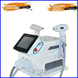 2 In 1 755/808/1064nm Laser Diode Hair Removal Nd Yag Tattoo Scar Removal Device