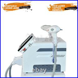 2021 Diode Laser Hair Removal Nd Yag Laser Tattoo Removal 2 In 1 Beauty Machine