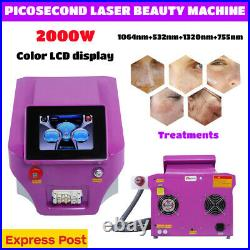 Picosecond Laser Nd Yag Q Switch Eyebrow Tattoo Removal Beauty Machine Fastship
