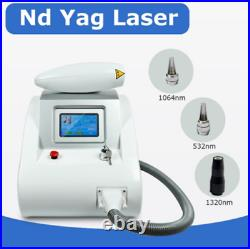Q Switched ND YAG Laser Tattoo Removal 1064&532nm Freckle Eyebrow Pigment Remove